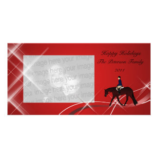 English Horse N Swirls Holiday Photo Card