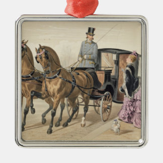 English Horses Christmas Ornament