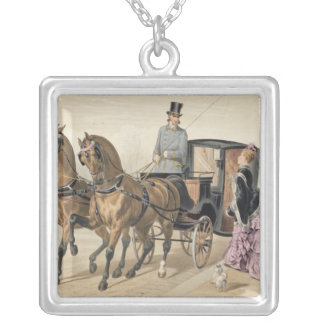 English Horses Silver Plated Necklace
