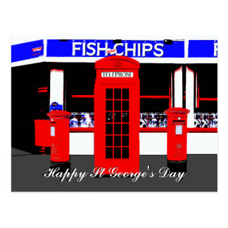 English Icons St Georges Day Postcard