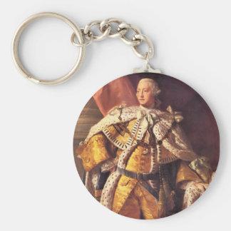 English King George III by Studio of Allan Ramsay Basic Round Button Key Ring