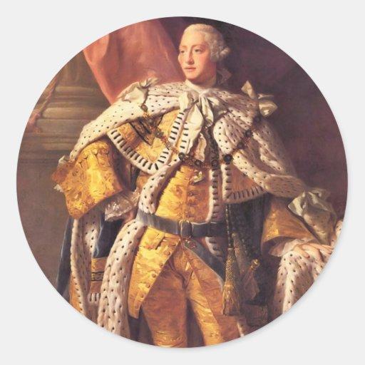 English King George III by Studio of Allan Ramsay Stickers