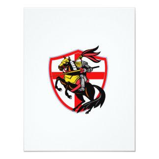 English Knight Lance England Flag Shield Retro 11 Cm X 14 Cm Invitation Card