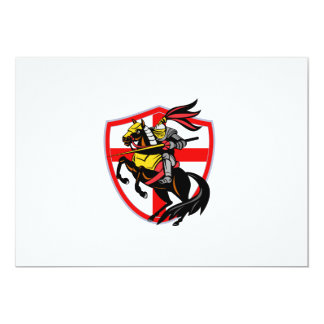 English Knight Lance England Flag Shield Retro Personalized Announcement