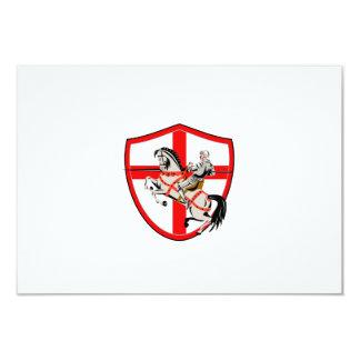 English Knight Rider Horse England Flag Retro 9 Cm X 13 Cm Invitation Card