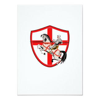 English Knight Rider Horse England Flag Retro Personalized Invitations