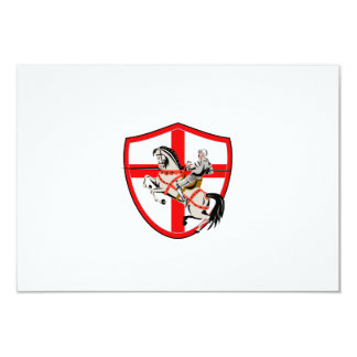 English Knight Rider Horse England Flag Retro Announcement