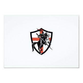 English Knight Riding Horse England Flag Retro 9 Cm X 13 Cm Invitation Card
