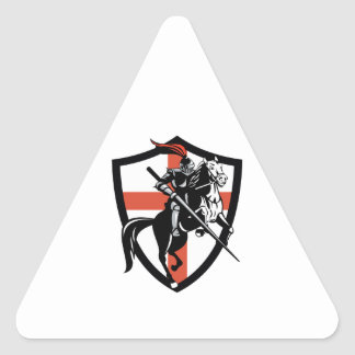 English Knight Riding Horse England Flag Retro Stickers