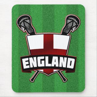 English Lacrosse Logo Mouse Pads