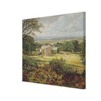 English landscape with a house, 19th century canvas print
