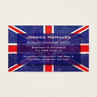 English Language Tutor Business Card