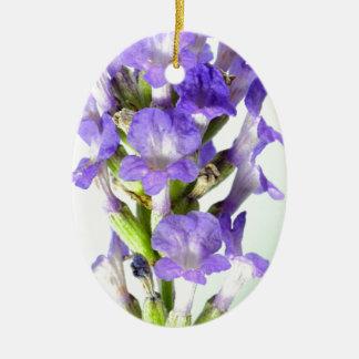 English Lavender Flower Photo Ceramic Oval Decoration