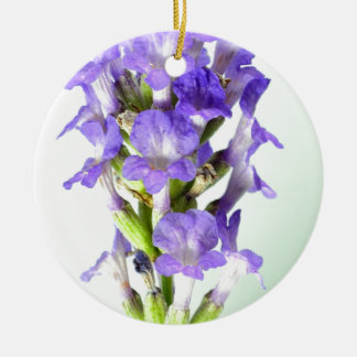 English Lavender Flower Photo Christmas Ornament