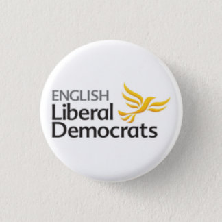 English Liberal Democrats 3 Cm Round Badge