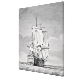 English Line-of-Battle Ship, 18th century Canvas Print