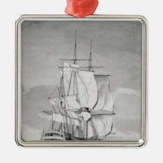 English Line-of-Battle Ship, 18th century Christmas Ornament