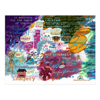 English Literature: All About Imagery Postcard