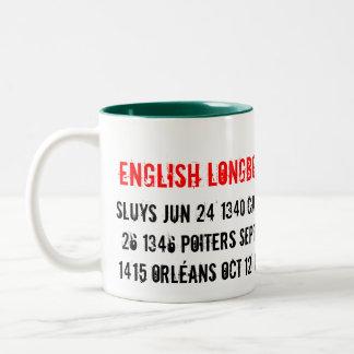 English Longbow Tour 1340 - 1453, Sluys Jun 24 ... Two-Tone Coffee Mug