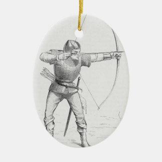 English Longbowman Christmas Ornament