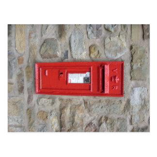 English mailbox postcard