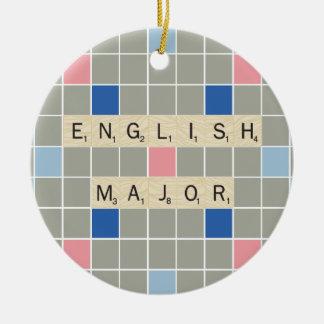 English Major Christmas Ornament