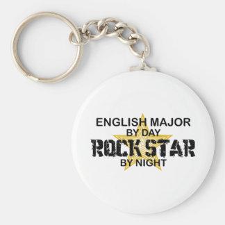 English Major Rock Star Basic Round Button Key Ring