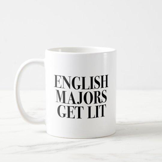 English Majors Get Lit Coffee Mug