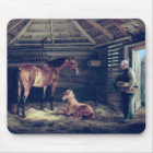 English Mare With Her Foals, 1833 Mouse Mat