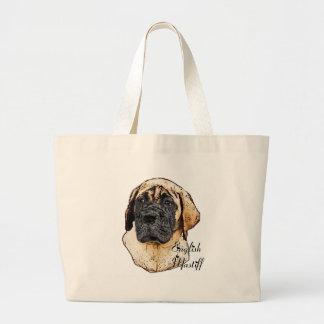 English Mastiff Art Gifts Large Tote Bag