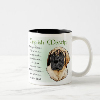English Mastiff Art Gifts Two-Tone Coffee Mug