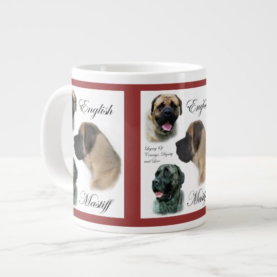 English Mastiff Art Large Coffee Mug