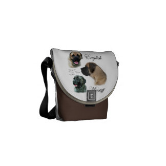 English Mastiff Art Messenger Bags