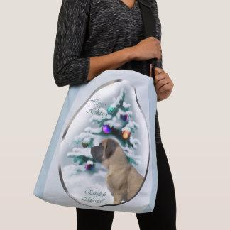 English Mastiff Christmas Crossbody Bag