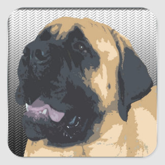 English Mastiff Square Sticker
