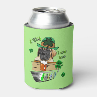 English Mastiff St Patricks Day Gifts Can Cooler