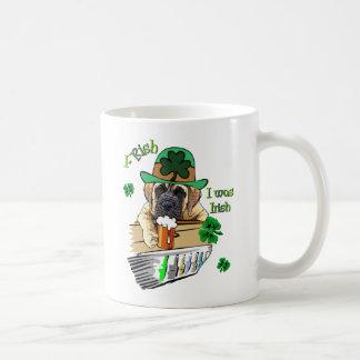 English Mastiff St Patricks Coffee Mug