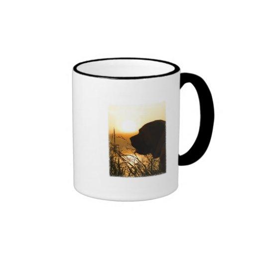 English Mastiff Watching the Sunrise Coffee Mugs