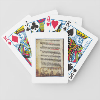 English miniature, 'Medica', illustrating an apoth Bicycle Playing Cards