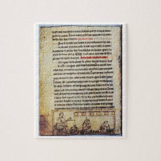English miniature, 'Medica', illustrating an apoth Jigsaw Puzzle