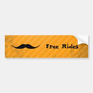 English Mustache Car Bumper Sticker