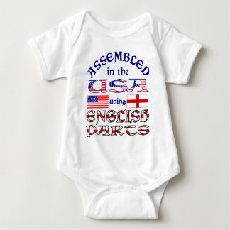 English Parts Front Baby Bodysuit