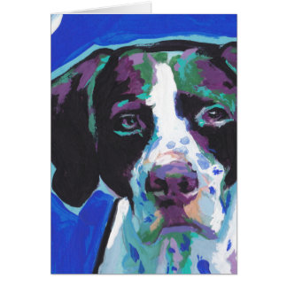 English Pointer Bright Colorful Pop Dog Art Card