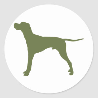English Pointer Classic Round Sticker
