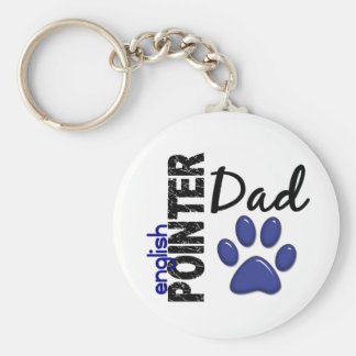 English Pointer Dad 2 Basic Round Button Key Ring