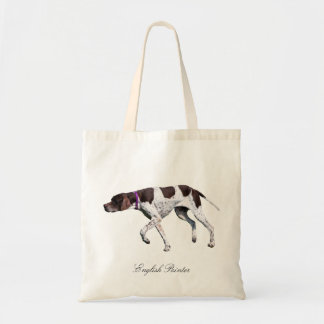 English Pointer dog beautiful photo, gift Budget Tote Bag