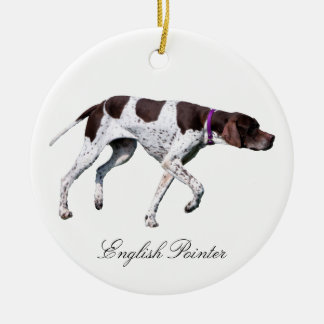 English Pointer dog beautiful photo, gift Christmas Ornament