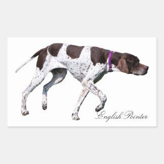 English Pointer dog beautiful photo, gift Rectangular Sticker