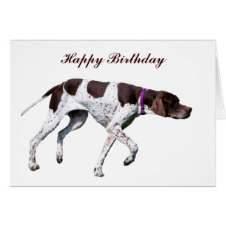 English Pointer dog photo custom birthday card