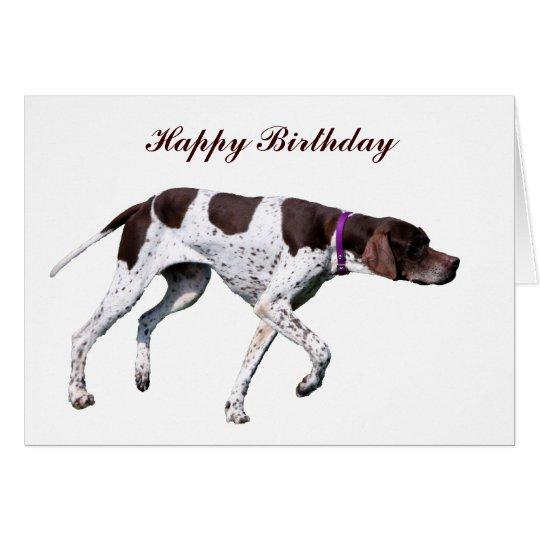 English Pointer dog photo custom birthday card
